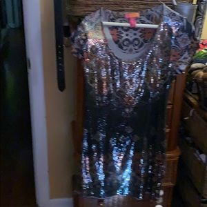 Sequin long top